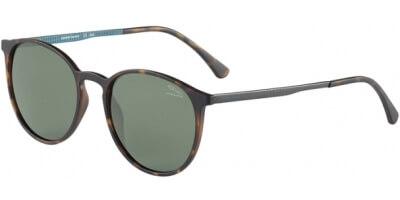 Sluneční brýle Jaguar model 37613, barva obruby hnědá mat šedá, čočka zelená polarizovaná, kód barevné varianty 8940.