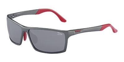 Sluneční brýle Jaguar model 37713, barva obruby šedá mat červená, čočka šedá, kód barevné varianty 650.