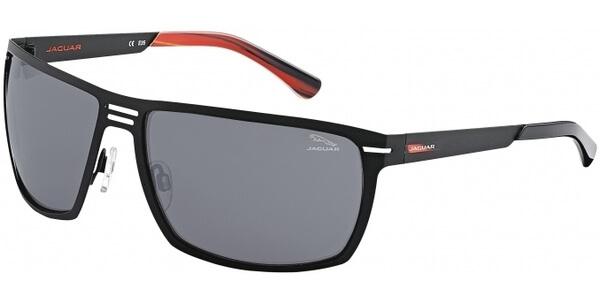 Sluneční brýle Jaguar model 37800, barva obruby černá mat, čočka stříbrná zrcadlo, kód barevné varianty 610.