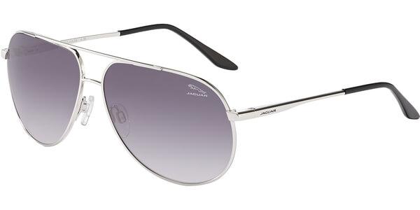 Sluneční brýle Jaguar model 37900, barva obruby stříbrná lesk, čočka fialová gradál, kód barevné varianty 100.