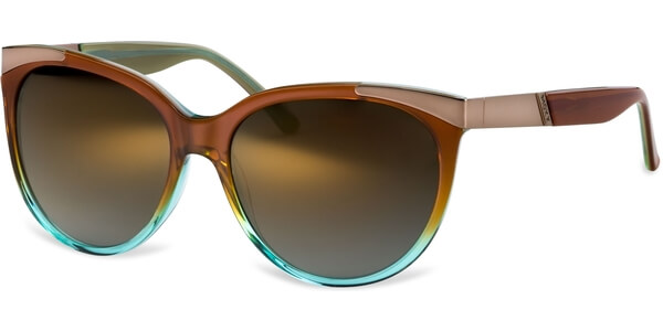 Sluneční brýle MEXX model 6283, barva obruby hnědá lesk zelená, čočka bronzová zrcadlo gradál, kód barevné varianty 300.