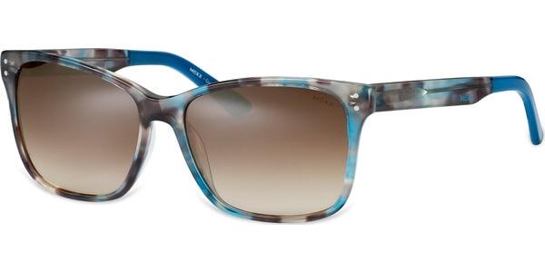 Sluneční brýle MEXX model 6318, barva obruby hnědá lesk modrá, čočka stříbrná zrcadlo gradál, kód barevné varianty 300.
