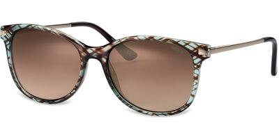 Sluneční brýle MEXX model 6337, barva obruby zelená lesk hnědá, čočka hnědá gradál, kód barevné varianty 200.