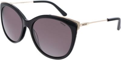 Sluneční brýle MEXX model 6383, barva obruby černá lesk zlatá, čočka hnědá, kód barevné varianty 100.