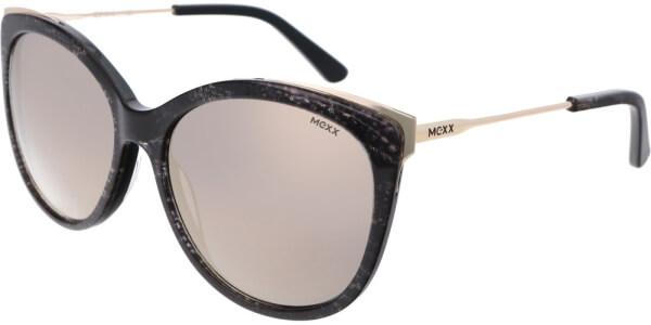 Sluneční brýle MEXX model 6383, barva obruby černá lesk zlatá, čočka zlatá zrcadlo, kód barevné varianty 200.