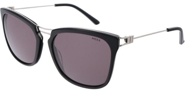 Sluneční brýle MEXX model 6385, barva obruby černá lesk stříbrná, čočka hnědá, kód barevné varianty 100.
