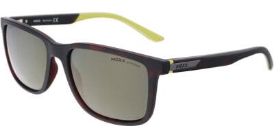 Sluneční brýle MEXX model 6401, barva obruby hnědá mat zelená, čočka zelená zrcadlo polarizovaná, kód barevné varianty 101.