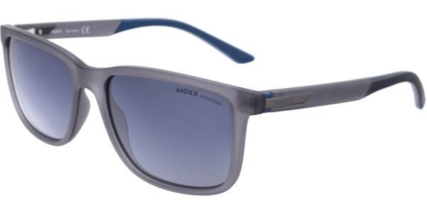Sluneční brýle MEXX model 6401, barva obruby šedá mat, čočka modrá gradál polarizovaná, kód barevné varianty 301.