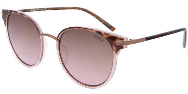 Sluneční brýle MEXX model 6409, barva obruby hnědá lesk růžová, čočka růžová zrcadlo gradál, kód barevné varianty 200.