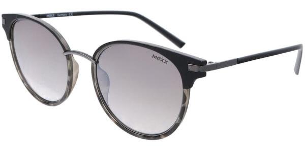 Sluneční brýle MEXX model 6409, barva obruby černá mat šedá, čočka stříbrná zrcadlo gradál, kód barevné varianty 300.