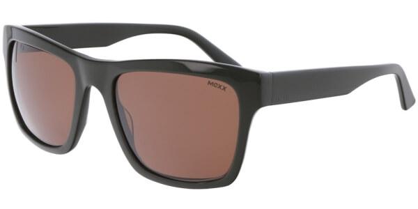 Sluneční brýle MEXX model Mexx, barva obruby zelená lesk, čočka hnědá, kód barevné varianty 300.