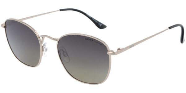 Sluneční brýle MEXX model 6447, barva obruby zlatá lesk, čočka fialová gradál polarizovaná, kód barevné varianty 101.