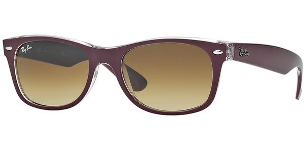 Sluneční brýle Ray-Ban® model 2132, barva obruby vínová mat čirá, čočka hnědá gradál, kód barevné varianty 605485.
