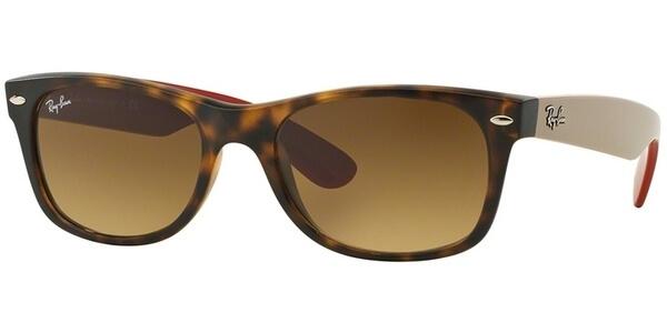 Sluneční brýle Ray-Ban® model 2132, barva obruby hnědá mat béžová, čočka hnědá gradál, kód barevné varianty 618185.