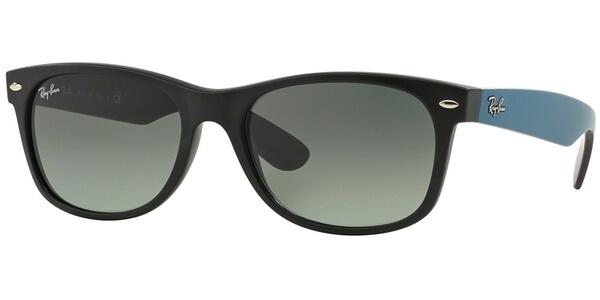 Sluneční brýle Ray-Ban® model 2132, barva obruby černá mat modrá, čočka šedá gradál, kód barevné varianty 618371.