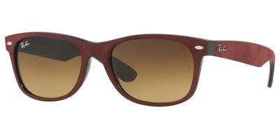 Sluneční brýle Ray-Ban® model 2132, barva obruby vínová textil černá, čočka hnědá gradál, kód barevné varianty 624085.