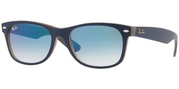 Sluneční brýle Ray-Ban® model 2132, barva obruby modrá mat hnědá, čočka modrá gradál, kód barevné varianty 63083F.