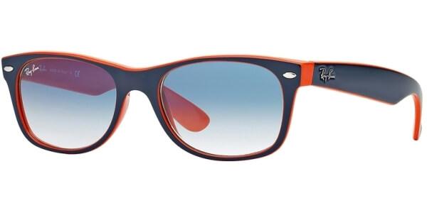 Sluneční brýle Ray-Ban® model 2132, barva obruby modrá mat oranžová, čočka modrá gradál, kód barevné varianty 7893F.