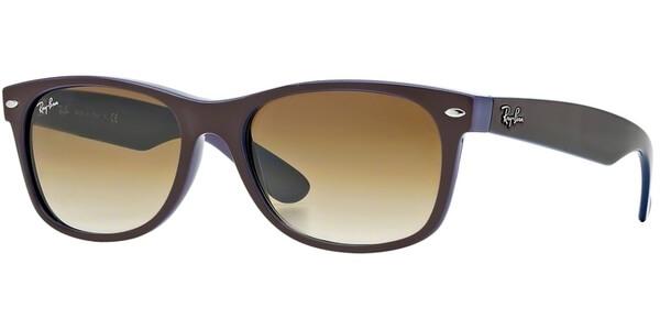 Sluneční brýle Ray-Ban® model 2132, barva obruby hnědá lesk modrá, čočka hnědá, kód barevné varianty 87451.