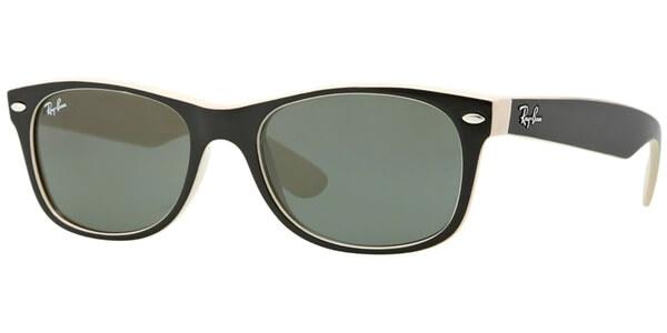 Sluneční brýle Ray-Ban® model 2132, barva obruby černá lesk béžová, čočka zelená, kód barevné varianty 875.