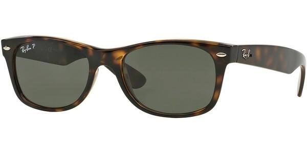 Sluneční brýle Ray-Ban® model 2132, barva obruby hnědá lesk, čočka zelená polarizovaná, kód barevné varianty 90258.