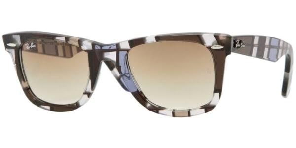 Sluneční brýle Ray-Ban® model 2140, barva obruby hnědá lesk bíla, čočka hnědá gradál, kód barevné varianty 108651.