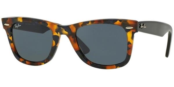 Sluneční brýle Ray-Ban® model 2140, barva obruby hnědá lesk modrá, čočka šedá, kód barevné varianty 1158R5.