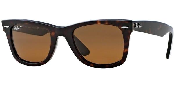 Sluneční brýle Ray-Ban® model 2140, barva obruby hnědá lesk, čočka hnědá polarizovaná, kód barevné varianty 90257.
