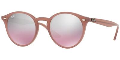 Sluneční brýle Ray-Ban® model 2180, barva obruby růžová lesk, čočka stříbrná zrcadlo gradál, kód barevné varianty 62297E.
