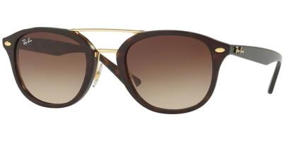 Sluneční brýle Ray-Ban® model 2183, barva obruby hnědá lesk zlatá, čočka hnědá gradál, kód barevné varianty 122513.