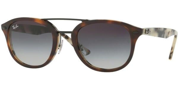 Sluneční brýle Ray-Ban® model 2183, barva obruby hnědá lesk béžová, čočka šedá gradál, kód barevné varianty 12268G.
