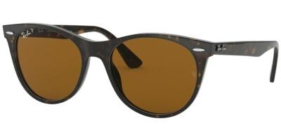 Sluneční brýle Ray-Ban® model 2185, barva obruby hnědá lesk, čočka hnědá polarizovaná, kód barevné varianty 90257.