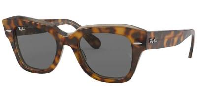 Sluneční brýle Ray-Ban® model 2186, barva obruby hnědá lesk, čočka šedá, kód barevné varianty 1292B1.