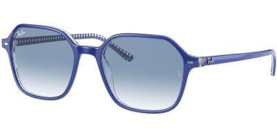 Sluneční brýle Ray-Ban® model 2194, barva obruby modrá lesk bílá, čočka modrá gradál, kód barevné varianty 13193F.