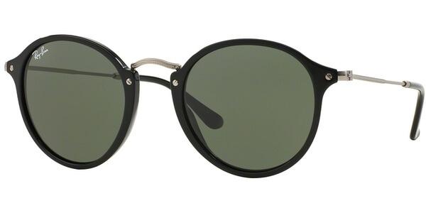 Sluneční brýle Ray-Ban® model 2447, barva obruby černá lesk stříbrná, čočka zelená polarizovaná, kód barevné varianty 901.
