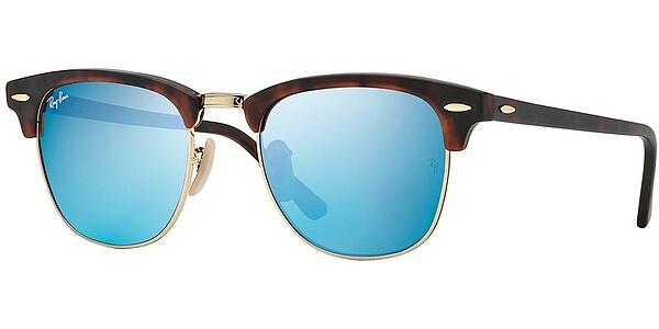Sluneční brýle Ray-Ban® model 3016, barva obruby hnědá lesk zlatá, čočka modrá zrcadlo, kód barevné varianty 114517.