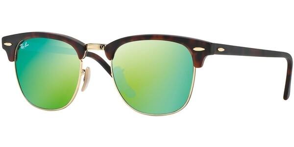 Sluneční brýle Ray-Ban® model 3016, barva obruby hnědá lesk zlatá, čočka zelená zrcadlo, kód barevné varianty 114519.