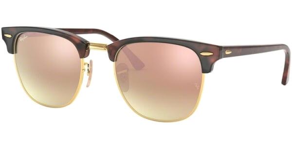 Sluneční brýle Ray-Ban® model 3016, barva obruby hnědá lesk červená, čočka růžová zrcadlo gradál, kód barevné varianty 9907O.