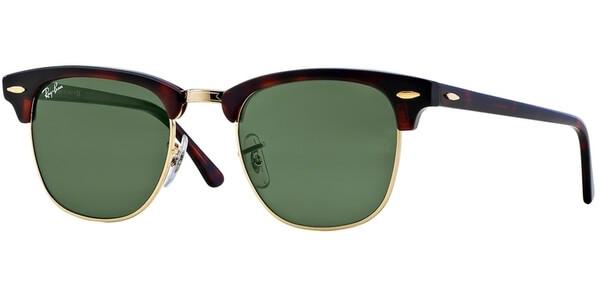 Sluneční brýle Ray-Ban® model 3016, barva obruby hnědá lesk zlatá, čočka zelená, kód barevné varianty W0366.