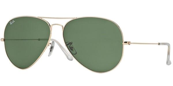 Sluneční brýle Ray-Ban® model 3025, barva obruby zlatá lesk, čočka zelená, kód barevné varianty 001.