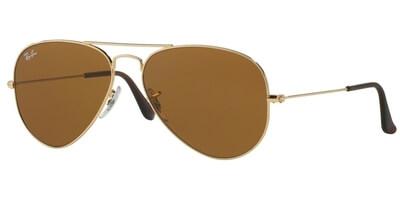Sluneční brýle Ray-Ban® model 3025, barva obruby zlatá, čočka hnědá, kód barevné varianty 00133.