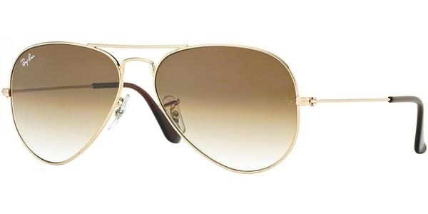 Sluneční brýle Ray-Ban® model 3025, barva obruby zlatá lesk, čočka hnědá gradál, kód barevné varianty 00151.