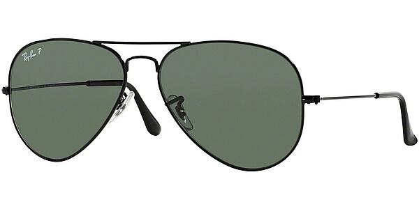 Sluneční brýle Ray-Ban® model 3025, barva obruby černá lesk, čočka zelená polarizovaná, kód barevné varianty 00258.