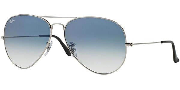 Sluneční brýle Ray-Ban® model 3025, barva obruby stříbrná lesk modrá, čočka modrá gradál, kód barevné varianty 0033F.