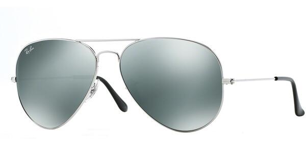 Sluneční brýle Ray-Ban® model 3025, barva obruby stříbrná lesk, čočka šedá zrcadlo, kód barevné varianty 00340.