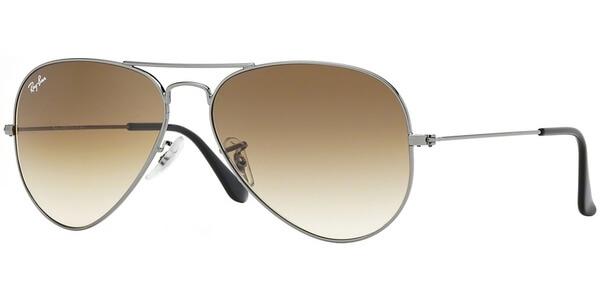 Sluneční brýle Ray-Ban® model 3025, barva obruby šedá lesk, čočka hnědá gradál, kód barevné varianty 00451.