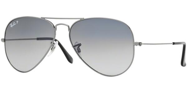 Sluneční brýle Ray-Ban® model 3025, barva obruby šedá lesk, čočka šedá gradál polarizovaná, kód barevné varianty 00478.