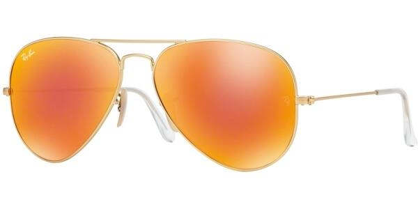 Sluneční brýle Ray-Ban® model 3025, barva obruby zlatá mat oranžová, čočka oranžová zrcadlo, kód barevné varianty 11269.