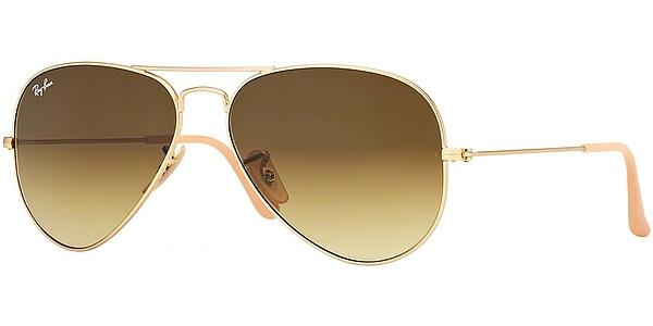 Sluneční brýle Ray-Ban® model 3025, barva obruby zlatá mat, čočka hnědá gradál, kód barevné varianty 11285.