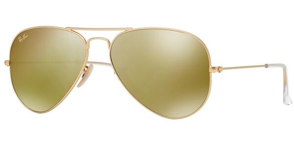 Sluneční brýle Ray-Ban® model 3025, barva obruby zlatá mat, čočka žlutá zrcadlo, kód barevné varianty 11293.